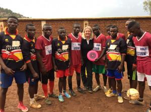 avec les footballeurs de Cahi